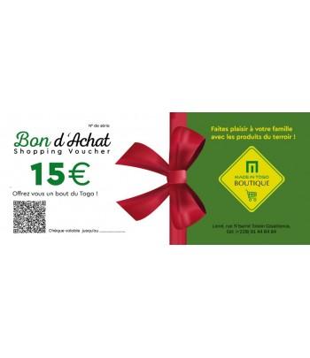 Chèque provision de 15 Euro