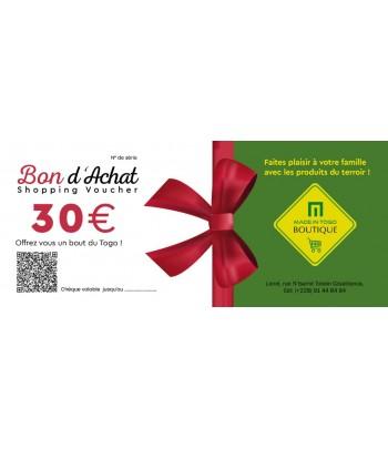 Chèque provision de 30 euro
